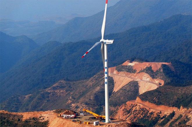 華能富川蚊帳嶺100MW風電場工程